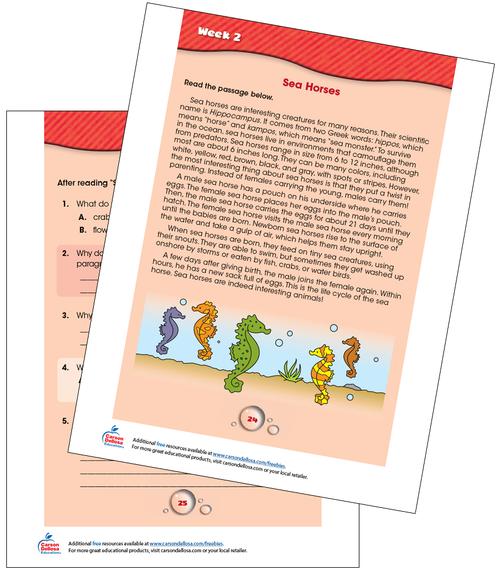 Week 2 Grades 2-3 Free Printable Sample Image