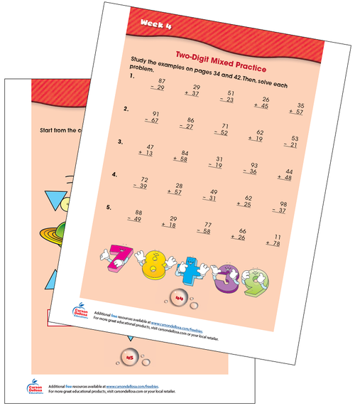 Week 4 Grades 2-3 Free Printable Sample Image