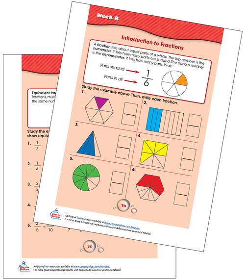 Week 8 Grades 2-3 Free Printable Sample Image