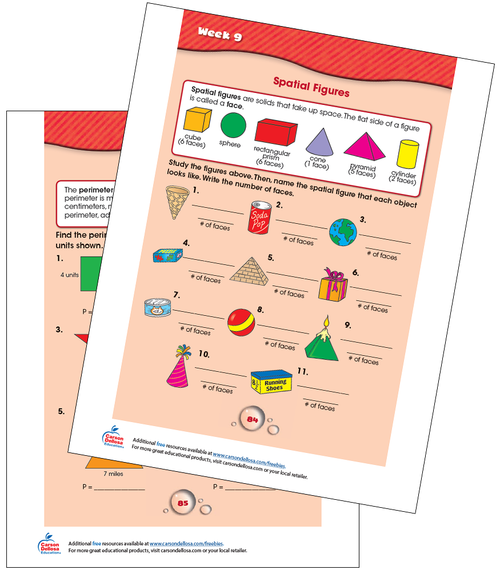 Week 9 Grades 2-3 Free Printable Sample Image