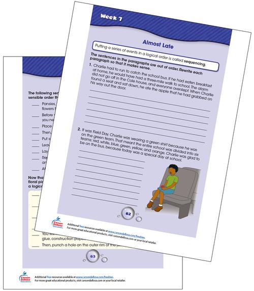 Week 7 Grades 3-4 Free Printable Sample Image