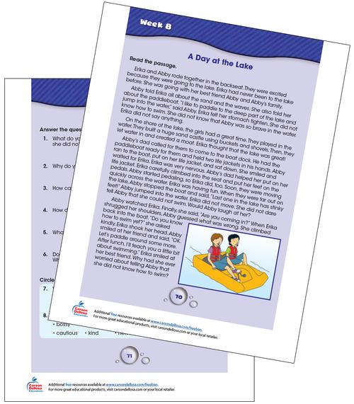 Week 8 Grades 3-4 Free Printable Sample Image