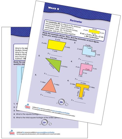 Week 9 Grades 3-4 Free Printable Sample Image