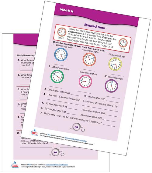 Week 4 Grades 4-5 Free Printable Sample Image