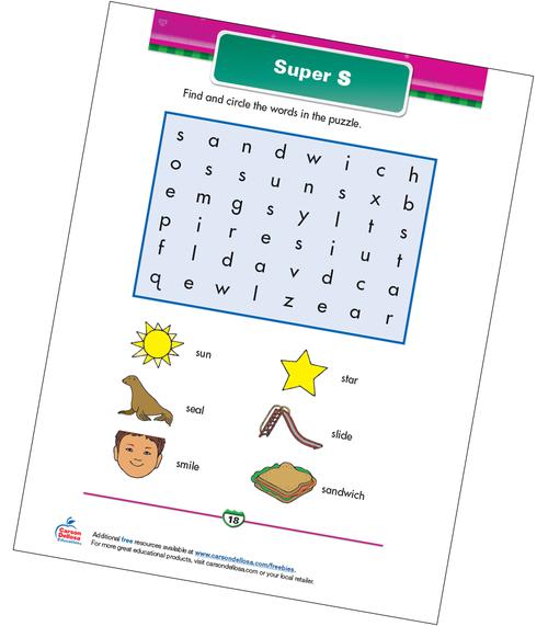 "Super ""S"" Free Printable Sample Image"