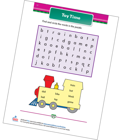 Toy Time Free Printable Sample Image