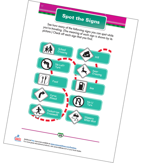 Spot the Signs Free Printable Sample Image