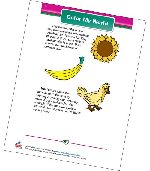Color My World Free Printable Sample Image