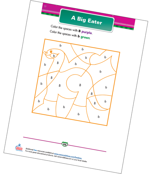 A Big Eater Free Printable Sample Image