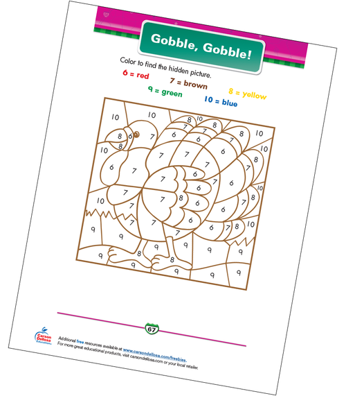 Gobble, Gobble! Free Printable Coloring Page