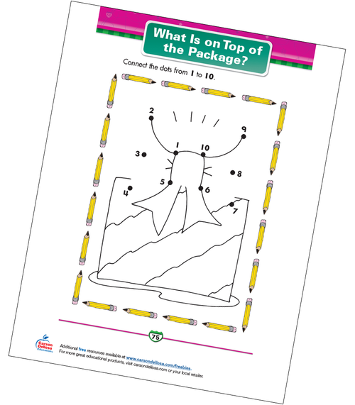 What Is on Top of the Package? Free Printable Sample Image