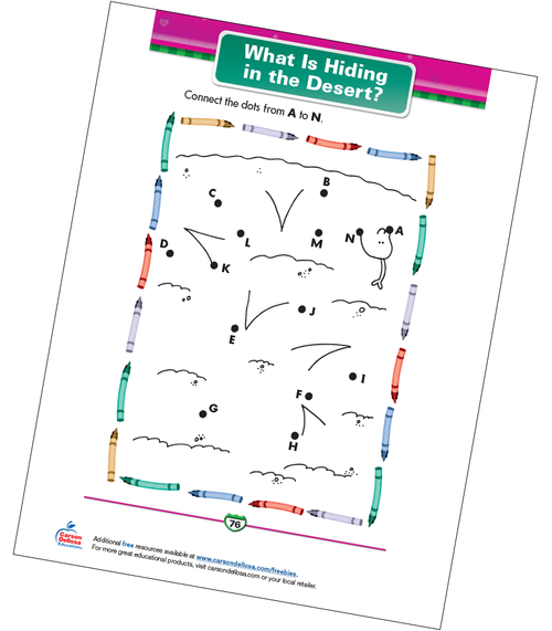 What Is Hiding in the Desert? Free Printable Sample Image