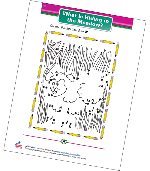 What Is Hiding in the Meadow? Free Printable Sample Image