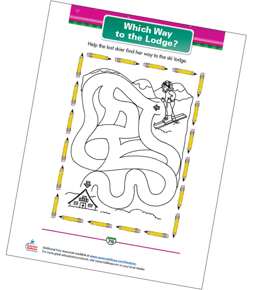 Which Way to the Lodge? Free Printable Sample Image