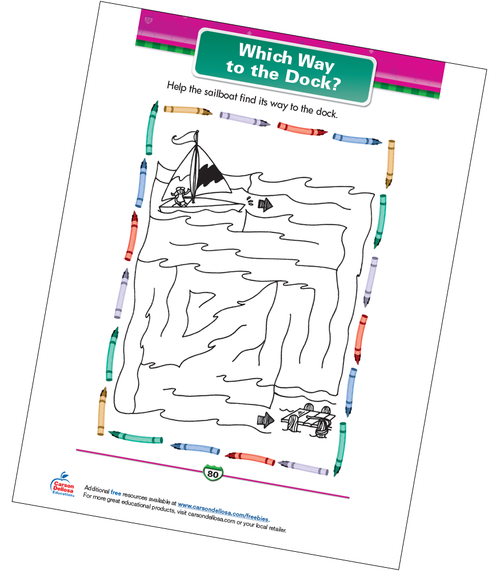 Which Way to the Dock? Free Printable Sample Image