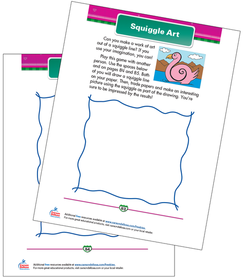 Squiggle Art Free Printable Sample Image