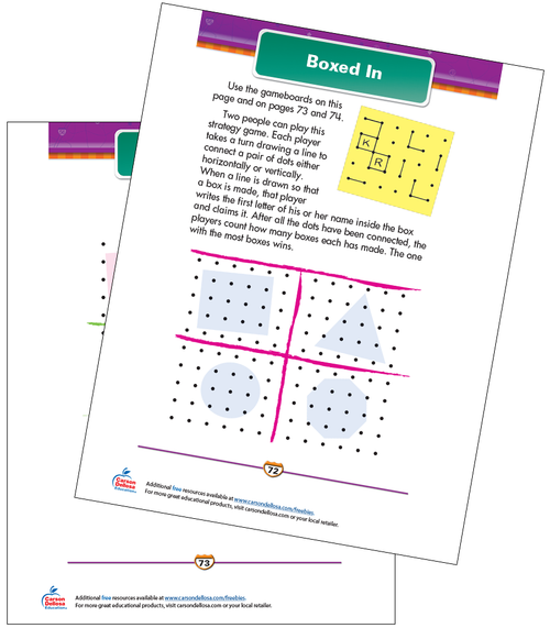 Boxed In Free Printable Sample Image