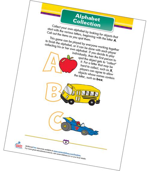 Alphabet Collection Free Printable Sample Image