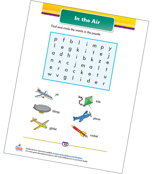 In the Air Free Printable Sample Image