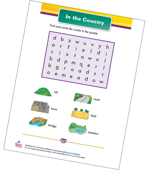 In the Country Free Printable Sample Image
