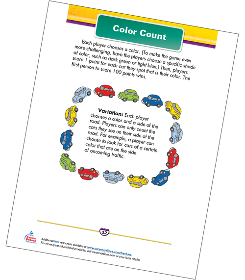 Color Count Free Printable Sample Image