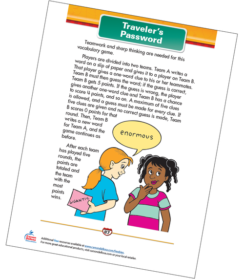 Traveler's Password Free Printable Sample Image