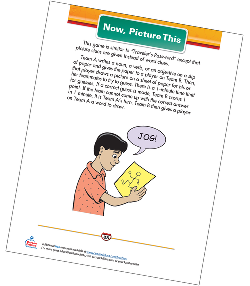 Now, Picture This Free Printable Sample Image