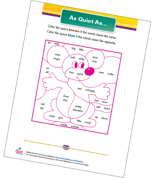 As Quiet As… Free Printable Sample Image