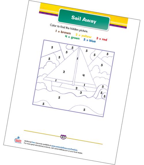Sail Away Free Printable Sample Image