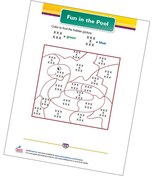 Fun in the Pool Free Printable Sample Image