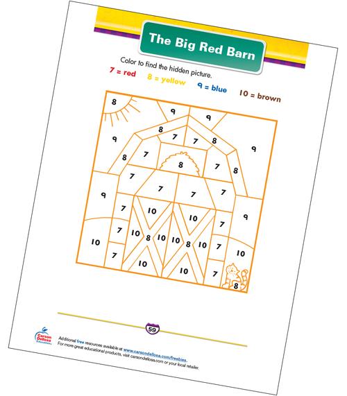 The Big Red Barn Free Printable Sample Image