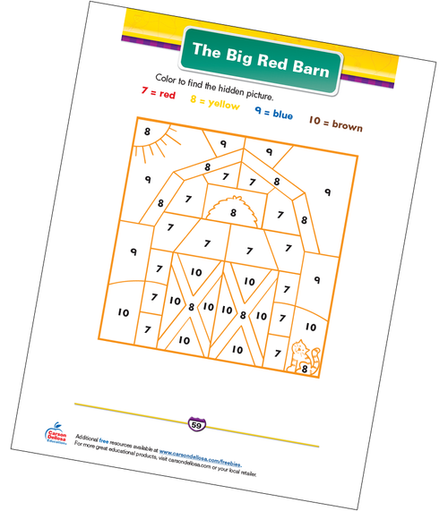 The Big Red Barn Free Printable Coloring Page
