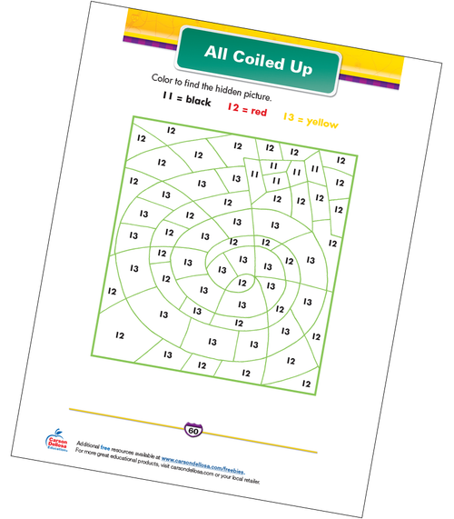 All Coiled Up Free Printable Sample Image