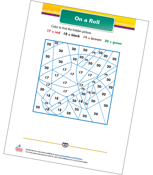 On a Roll Free Printable Sample Image