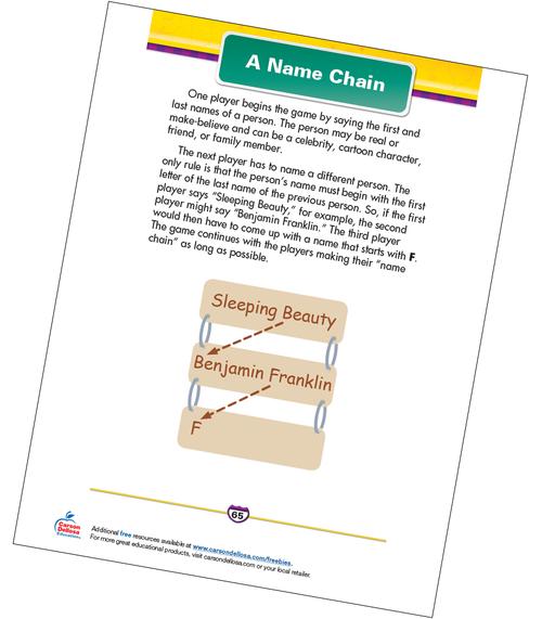 A Name Chain Free Printable Sample Image