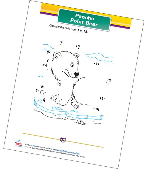 Pancho Polar Bear Free Printable Sample Image
