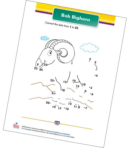 Bob Bighorn Free Printable Sample Image