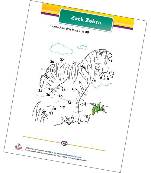 Zack Zebra Free Printable Sample Image