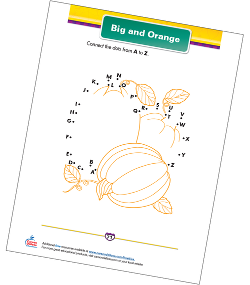 Big and Orange Free Printable Sample Image