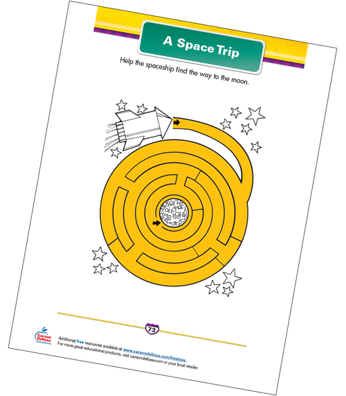 A Space Trip Free Printable Sample Image