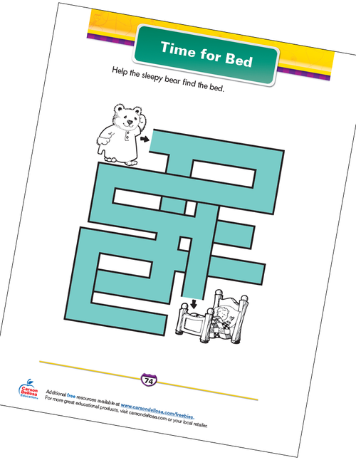 Time for Bed Free Printable Sample Image
