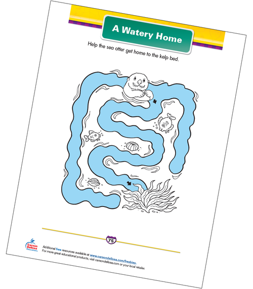 A Watery Home Free Printable Sample Image