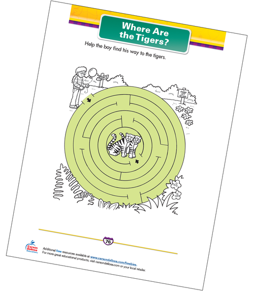 Where Are the Tigers? Free Printable Sample Image