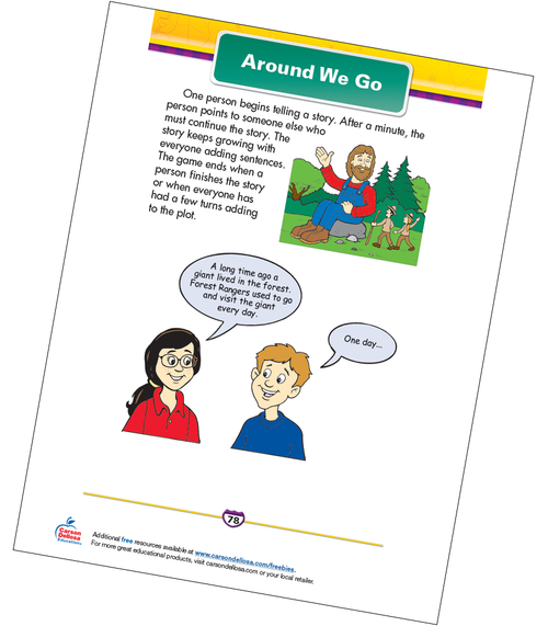 Around We Go Free Printable Sample Image