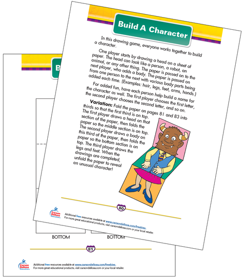 Build A Character Free Printable Sample Image