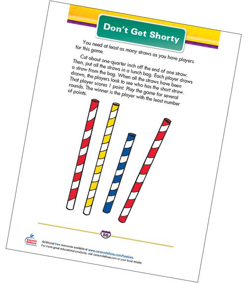 Don't Get Shorty Free Printable Sample Image