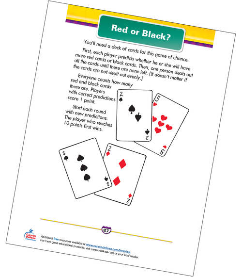 Red or Black? Free Printable Sample Image