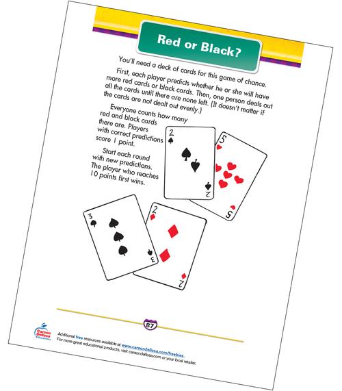 Red or Black? Free Printable Sample Image
