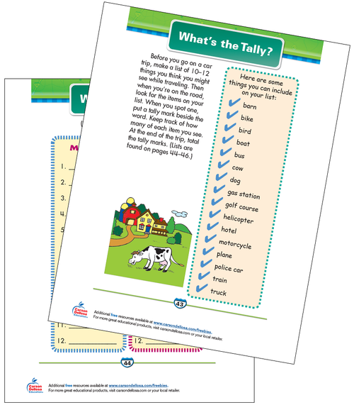 What's the Tally? Free Printable Sample Image