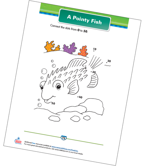 A Pointy Fish Free Printable Sample Image